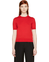 Red short sleeve sweater original 10282232