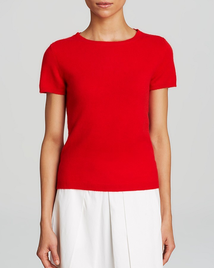 Bloomingdale's C By Short Sleeve Cashmere Sweater | Where to buy ...