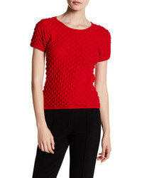 Lucy Paris Gemma Textured Short Sleeve Sweater