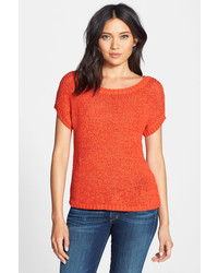 Hinge Crop Short Sleeve Sweater