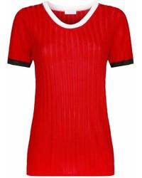 Sandro Ribbed Short Sleeve Sweater