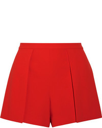 Alice + Olivia Alice Olivia Larissa Draped Crepe Shorts Red