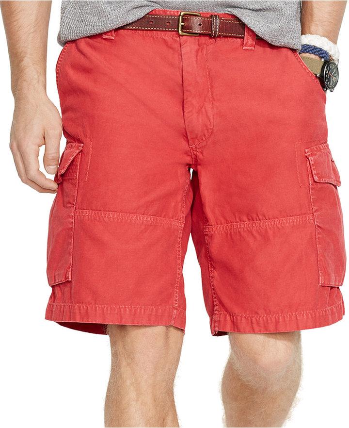 e89c7a37a5 Polo Ralph Lauren Classic Fit Commander Cargo Shorts, $75 | Macy's ...