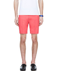 Calvin Klein Collection Coral Red Pleated Shorts