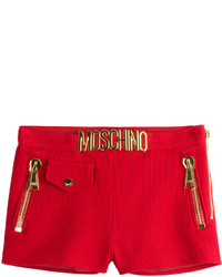 Moschino Embellished Cotton Piqu Shorts