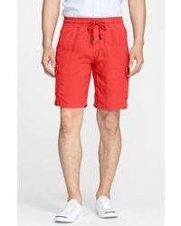 Linen bermuda cargo shorts medium 606004