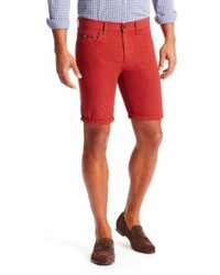 Hugo Boss Maine Reguarl Fit Cotton Shorts 34 Red