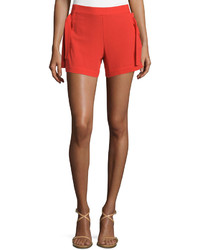 See by Chloe Mid Rise Slim Leg Shorts Red