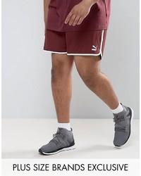 Puma Plus Retro Mesh Shorts In Red To Asos