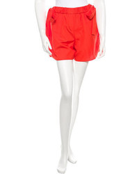 Fendi Poplin High Rise Shorts