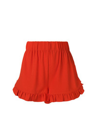 Ganni Ruffled Trim Shorts