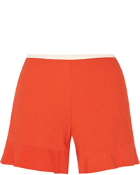 See by Chloe See By Chlo Fluted Stretch Crepe Shorts