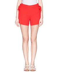 See by Chloe See By Chlo Ribbon Trim Textured Crepe Shorts