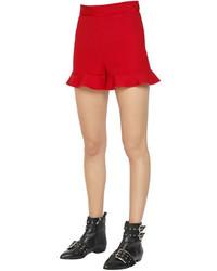 RED Valentino Stretch Cady Ruffle Hem Shorts