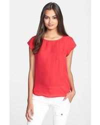 Joie rancher silk pocket top candy red small medium 37275