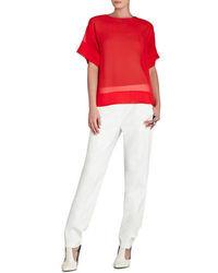 Mireya relaxed silk t shirt medium 37223