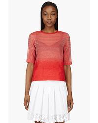 Ostwald helgason red organza gradient boucl t shirt medium 37228