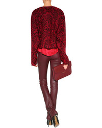 89acbb862c2f3b ... Marc by Marc Jacobs Silk Top In Cabernet Red