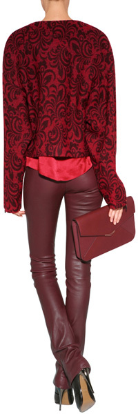 957dc2fc2d082c Marc by Marc Jacobs Silk Top In Cabernet Red