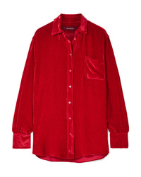 Red Silk Dress Shirt