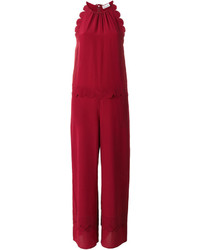 RED Valentino Scalloped Detail Jumpsuit