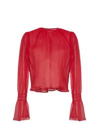 Beaufille Camarina Sheer Silk Blend Blouse
