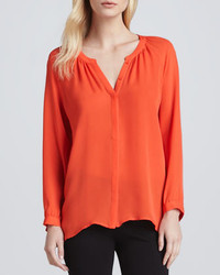 Joie Kade Long Sleeve Silk Blouse