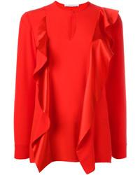 Ruffle trim keyhole blouse medium 3641403