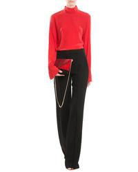 Nina Ricci Silk Blouse With Chain Embellisht