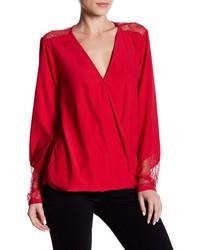 Wraparound silk blend blouse medium 3641397