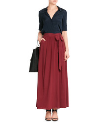 DKNY Silk Wrap Maxi Skirt