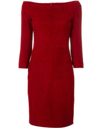 The Row Off The Shoulder Fitted Dress