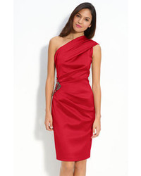 Red Silk Cocktail Dress