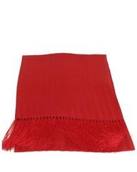 Bruno Piattelli Red Silk Tuxedo Scarf Scarves