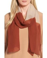 Colorblock silk scarf medium 5035322