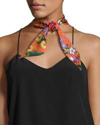 Flora skinny silk scarf medium 3760163
