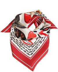 Dolce & Gabbana I Love My Cat Silk Scarf