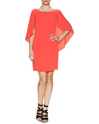 Red Silk Shift Dress