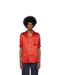 Gucci Red Print Back Bowling Shirt