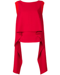 Givenchy Draped Panel Sleeveless Top