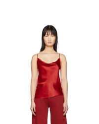 MARQUES ALMEIDA Red Draped Slip Top