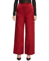 The Row Strom Silk Satin Wide Leg Pants