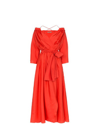 Three Graces Tessa Open Shoulder Silk Wrap Dress