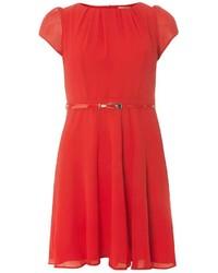 Billie Blossom Petite Red Chiffon Skater Dress