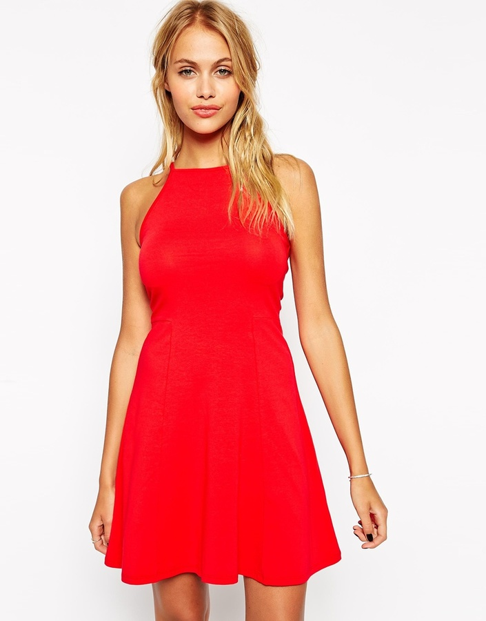 ... Asos Collection 90s Skater Dress With High Neck ... ee3948585