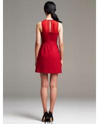 618703bc98 ... Red Skater Dresses Banana Republic Sheer Inset Fit And Flare Dress  Banana Republic Sheer Inset Fit And Flare Dress ...