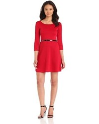 Star vixen ponte skater dress with belt medium 67068