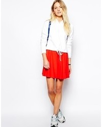 Asos Skater Skirt Red