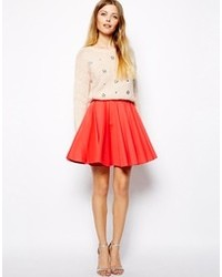 Asos Ultra Full Skater Skirt In Scuba