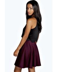 2533ade82 Boohoo Jess Skater Skirt, $14 | BooHoo | Lookastic.com